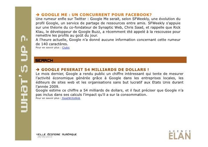  GOOGLE ME : UN CONCURRENT POUR FACEBOOK? Une rumeur enfle sur Twitter : Google Me serait, selon SFWeekly, une évolution...