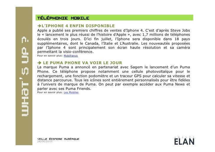 L'IPHONE 4 ENFIN DISPONIBLE Apple a publié ses premiers chiffres de ventes d'Iphone 4. C'est d'après Steve Jobs le « lan...