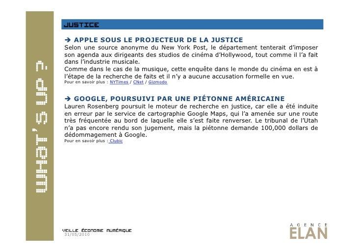 Veille economie numérique 31.05.2010 Slide 3