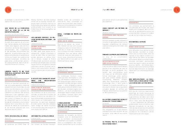 VEille Page 34  L'individu au travail  bouteillages, ou des données du CRM quand il est chez un client.  Une vision de la ...