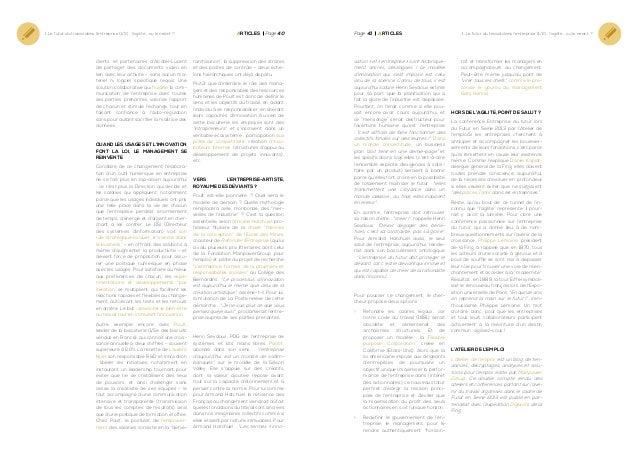 1. Le futur du travail dans l'entreprise (1/2) : l'agilité… ou le néant ?  clients et partenaires d'Alcatel-Lucent de part...