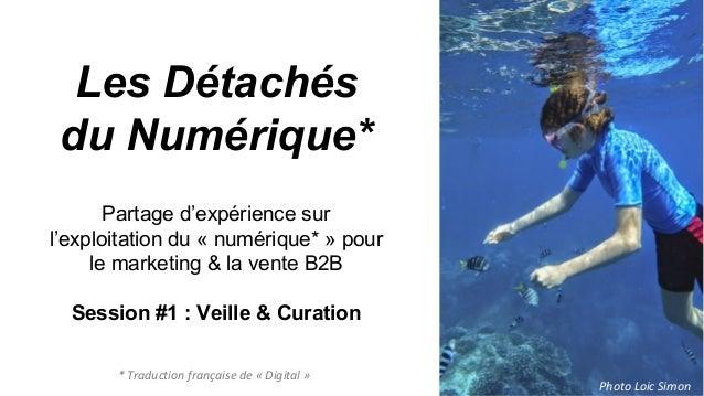 Les Détachés du Numérique* Partage d'expérience sur l'exploitation du « numérique* » pour le marketing & la vente B2B Sess...