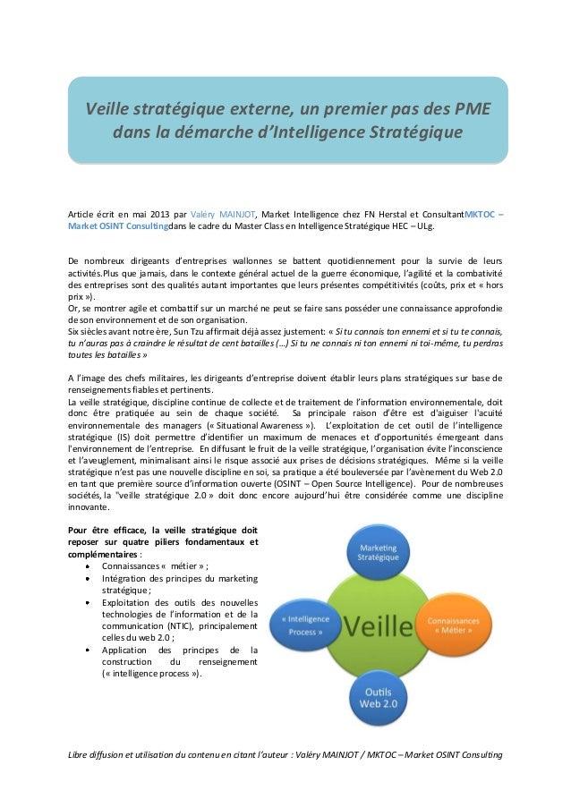 Libre diffusion et utilisation du contenu en citant l'auteur : Valéry MAINJOT / MKTOC – Market OSINT ConsultingArticle écr...