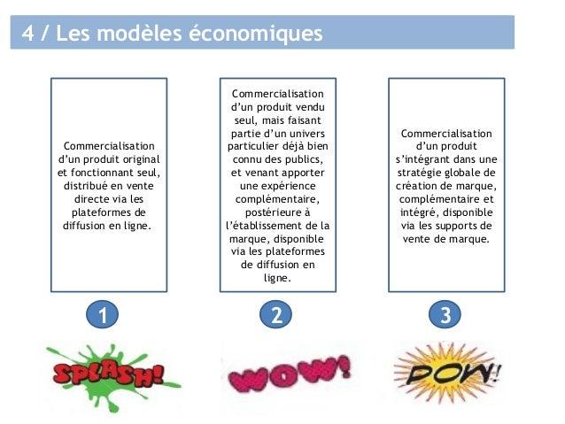4 / Les modèles économiques Commercialisation d'un produit original et fonctionnant seul, distribué en vente directe via l...