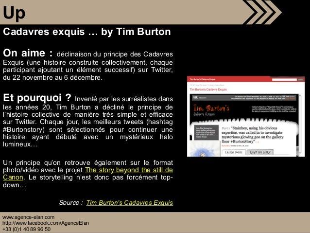 www.agence-elan.com http://www.facebook.com/AgenceElan +33 (0)1 40 89 96 50 Up On aime : déclinaison du principe des Cadav...