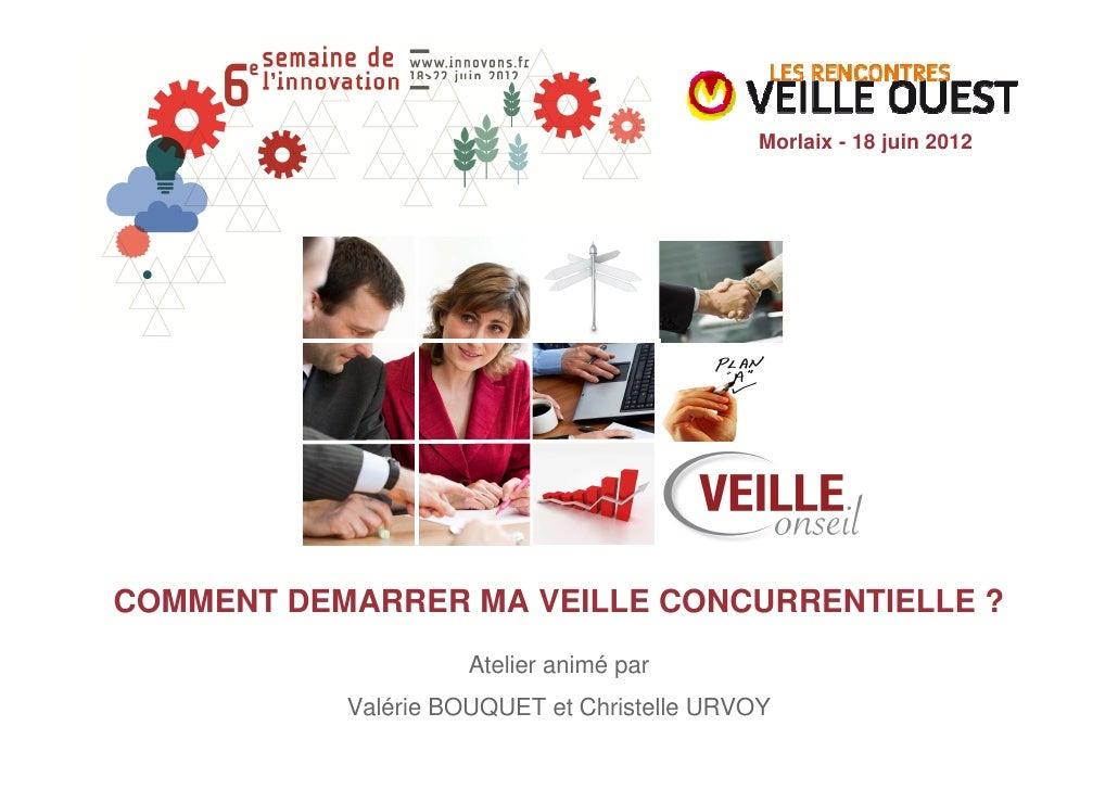 Morlaix - 18 juin 2012COMMENT DEMARRER MA VEILLE CONCURRENTIELLE ?                     Atelier animé par           Valérie...