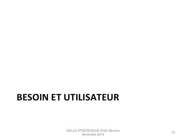 BESOIN  ET  UTILISATEUR   VEILLE STRATÉGIQUE IFAG Réunion Novembre 2016 14