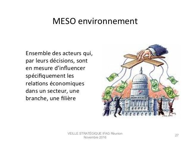 MESO  environnement            Ensemble  des  acteurs  qui,   par  leurs  décisions,  sont  ...