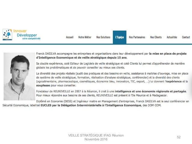 VEILLE STRATÉGIQUE IFAG Réunion Novembre 2016 52