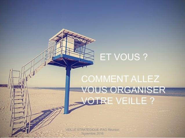 VEILLE STRATÉGIQUE IFAG Réunion Novembre 2016 70 ET VOUS ? COMMENT ALLEZ VOUS ORGANISER VOTRE VEILLE ?