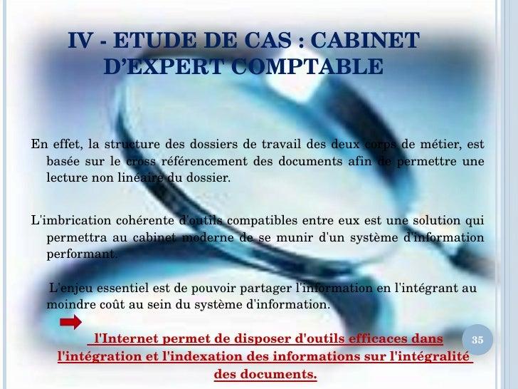 Veille strat gique cas du cabinet dexpert c omptable - Travailler en cabinet d expertise comptable ...