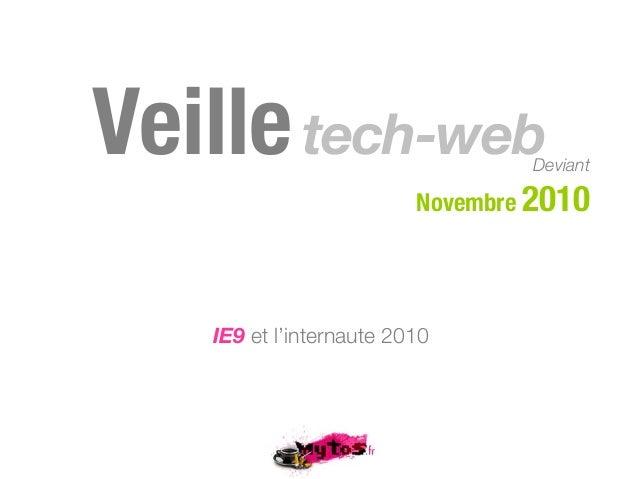 Veilletech-webDeviant Novembre 2010 IE9 et l'internaute 2010