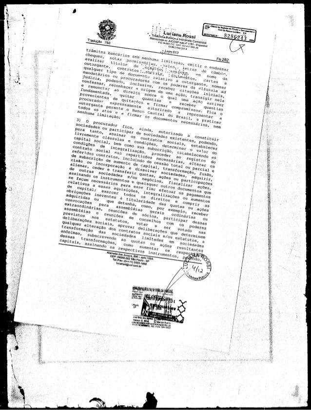 Contrato da Veine, que controla casa dos Marinho