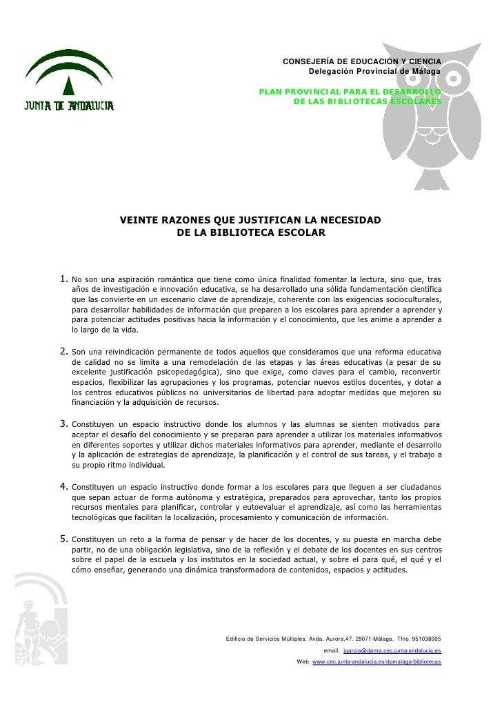 CONSEJERÍA DE EDUCACIÓN Y CIENCIA                                                                         Delegación Provi...