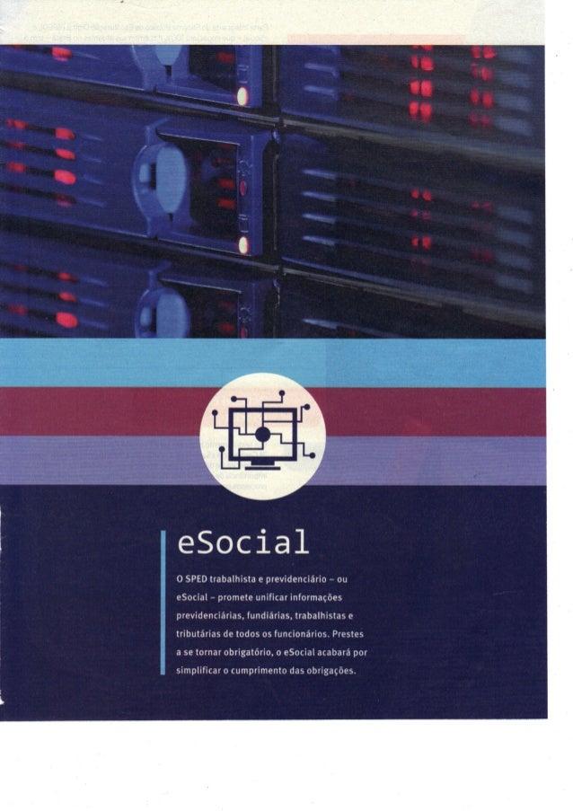 Informe sobre eSocial da Revista Veja SP