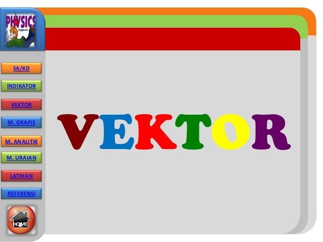 VEKTOR SK/KD INDIKATOR VEKTOR M. GRAFIS M. ANALITIK M. URAIAN LATIHAN REFERENSI HOME
