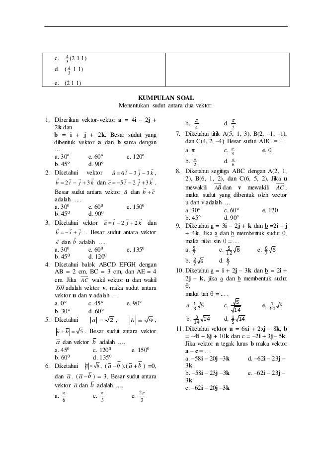Lks Matematika Materi Vektor