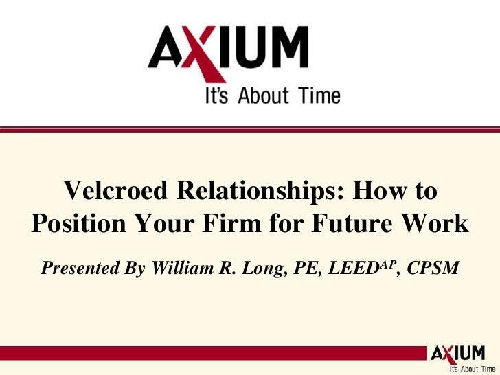 A/E Business Development: Velcroed Relationships