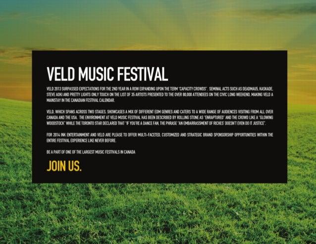 VELD MUSIC FESTIVAL 2014 SPONSORSHIP DECK