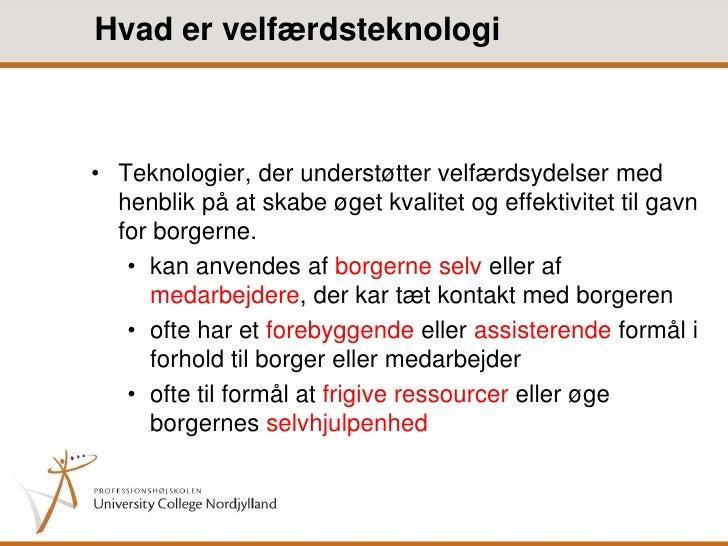 hvad er velfærdsteknologi