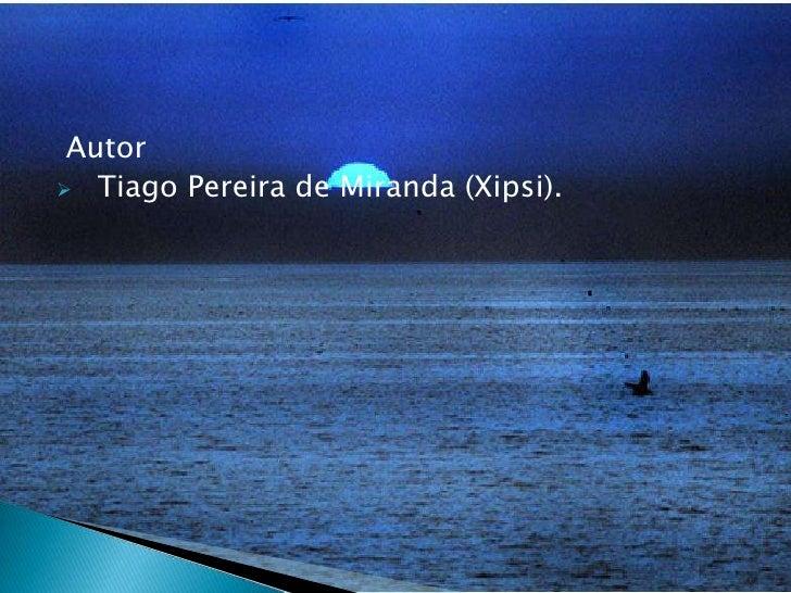 Autor<br /><ul><li>Tiago Pereira de Miranda (Xipsi).   </li>