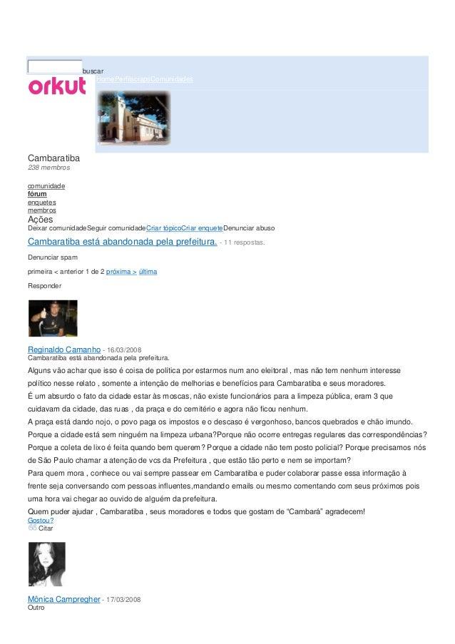+Vocêgraunna@gmail.com|configurações|sair                  buscar                      HomePerfilscrapsComunidadesCambarat...