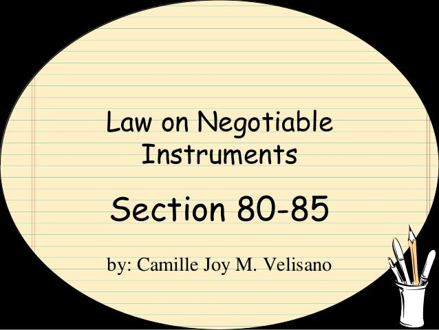 negotiable instruments law philippines Negotiable instruments law crossed checks date: august 21, 2012 author: attymarkpiad 0 comments  negotiable instruments law philippines atty mark piad.