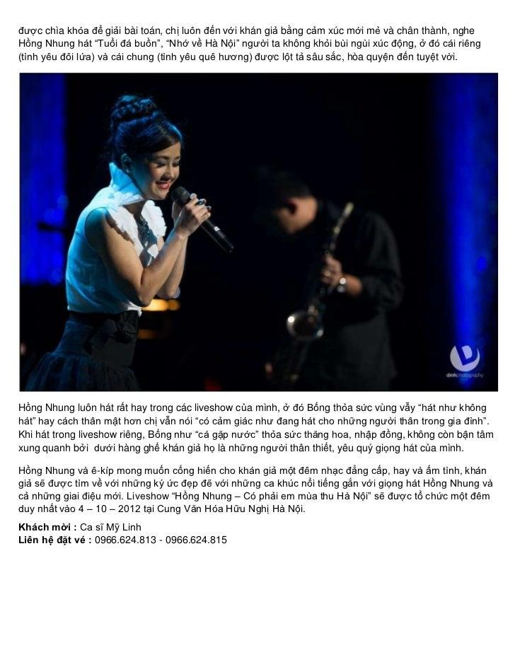 Ve live show hong nhung 0966624813 Slide 3