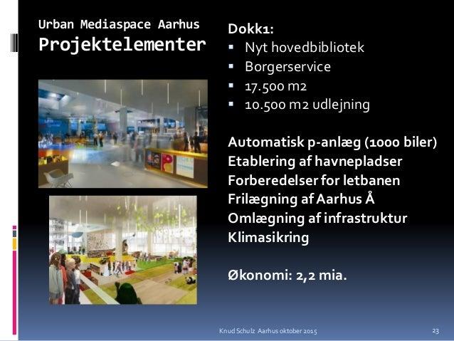Urban Mediaspace Aarhus Projektelementer Dokk1:  Nyt hovedbibliotek  Borgerservice  17.500 m2  10.500 m2 udlejning Aut...