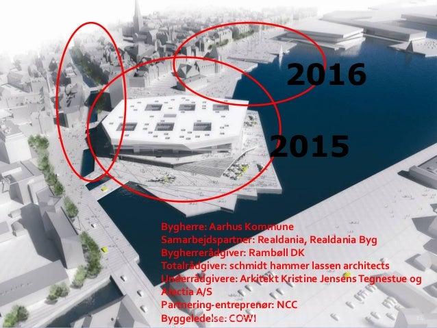 2016 2015 Bygherre: Aarhus Kommune Samarbejdspartner: Realdania, Realdania Byg Bygherrerådgiver: Rambøll DK Totalrådgiver:...