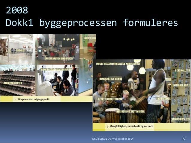 2008 Dokk1 byggeprocessen formuleres 55Knud Schulz Aarhus oktober 2015