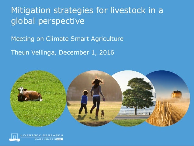 Mitigation strategies for livestock in a global perspective Meeting on Climate Smart Agriculture Theun Vellinga, December ...