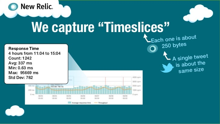 "We capture ""Timeslices""                              Each o ne is aboutResponse Time                    250 bytes4 hours f..."