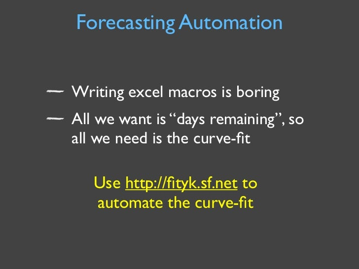 Forecasting Automation Writing excel macros