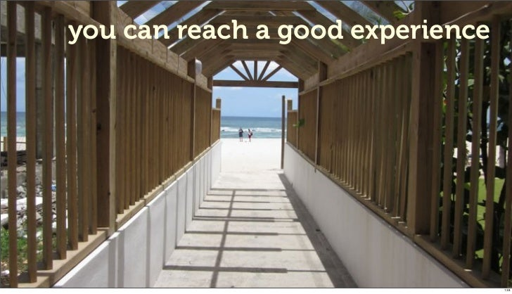 you can reach a good experience                                  138