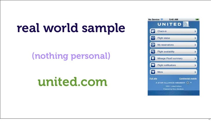 real world sample  (nothing personal)   united.com                       47