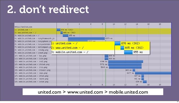 2. don't redirect      united.com > www.united.com > mobile.united.com                                                    ...