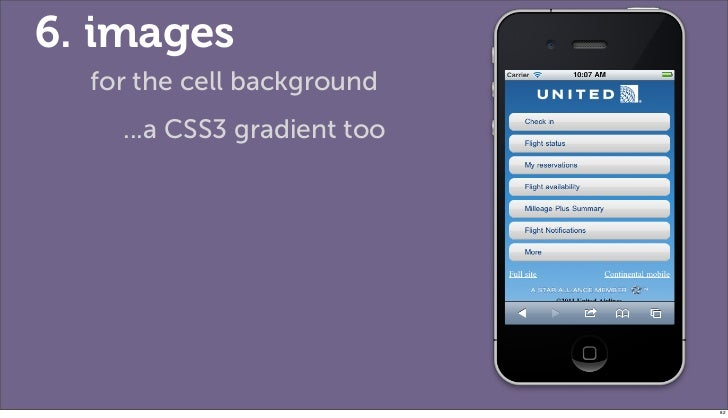 6. images  for the cell background    ...a CSS3 gradient too                             82