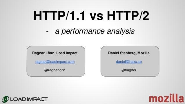 HTTP/1.1 vs HTTP/2 Ragnar Lönn, Load Impact ragnar@loadimpact.com @ragnarlonn - a performance analysis Daniel Stenberg, Mo...