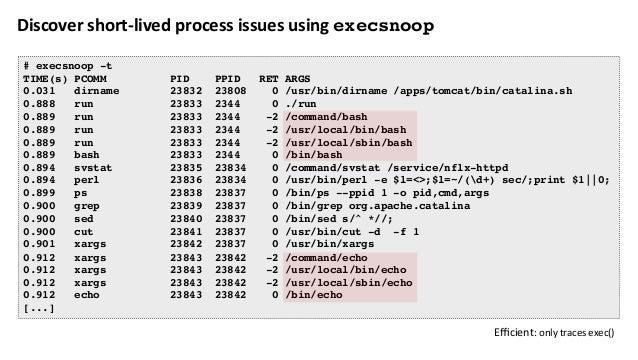 Exonerateorconfirmstoragelatencyissuesandoutlierswithext4slower # /usr/share/bcc/tools/ext4slower 1 Tracing ext4 ...