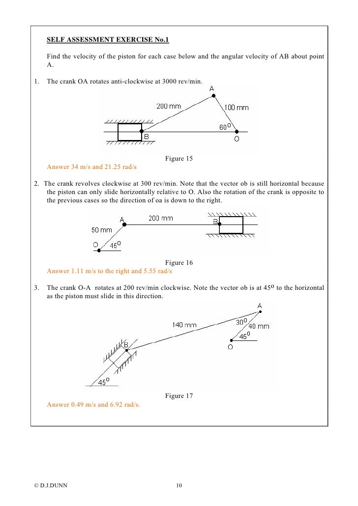 Velocity Acceleration Diagrams on Example Of Clockwise Vector