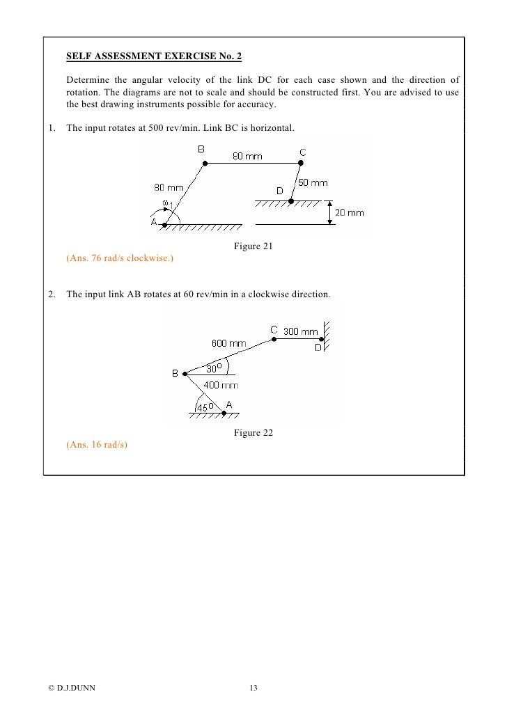 velocity acceleration diagrams