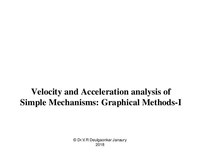 graphical analysis of velocity and acceleration relationship