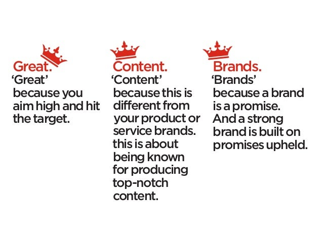 Great.            Content.           Brands.'Great'           'Content'          'Brands' because you       because this i...