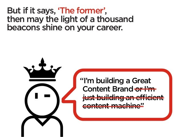 """But if it says, 'The former',then may the light of a thousandbeacons shine on your career.                  """"I'm building ..."""