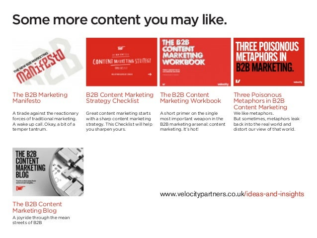 Some more content you may like.The B2B Marketing                  B2B Content Marketing The B2B Content                   ...