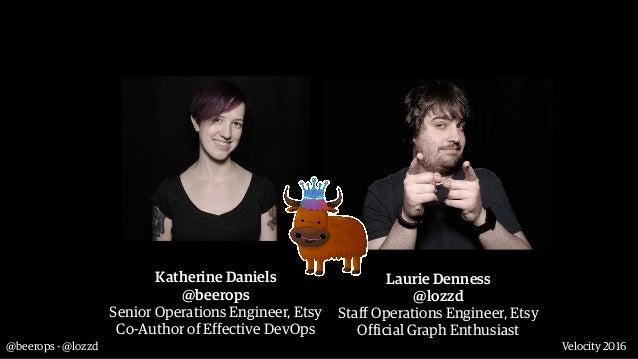 @beerops - @lozzd Velocity 2016 Katherine Daniels @beerops Senior Operations Engineer, Etsy Co-Author of Effective DevOps...