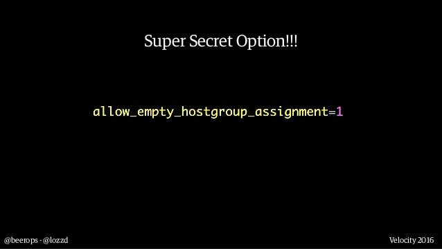 @beerops - @lozzd Velocity 2016 Solution 4: Use Deployinator to rsync config to all boxes