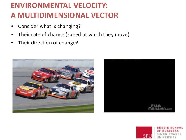 ENVIRONMENTAL VELOCITY: A MULTIDIMENSIONAL VECTOR • Consider what is changing? • Their rate of change (speed at which they...