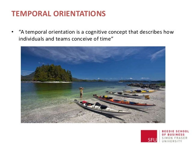 """TEMPORAL ORIENTATIONS • """"A temporal orientation is a cognitive concept that describes how individuals and teams conceive o..."""